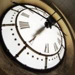 Horloge de l'Hôtel de ville de Rouen côté jardin